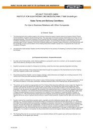 Sales Terms and Delivery Conditions
