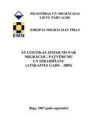 Statistikas ziņojums par migrāciju, patvērumu un nelegālo ...