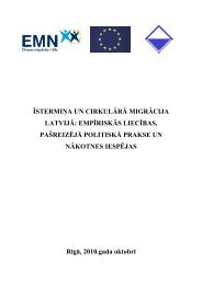 īstermiņa un cirkulārā migrācija latvijā: empīriskās liecības ...