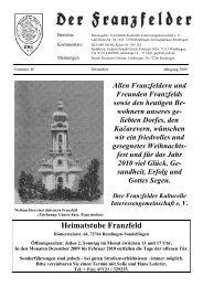 Anschriften des Vorstands und der Projektleiter der ... - Die Franzfelder