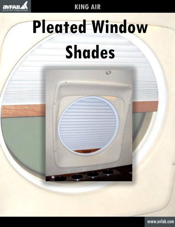 King Air Pleated Window Shades Catalog T4