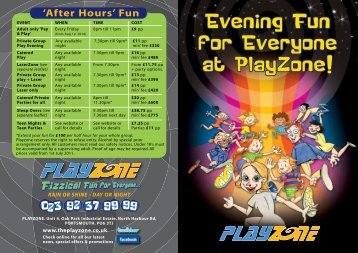 from Aug 1st 2010 - Playzone