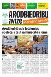 LBAS Arodbiedrību Avīze Nr. 6 - Latvijas Brīvo Arodbiedrību Savienība