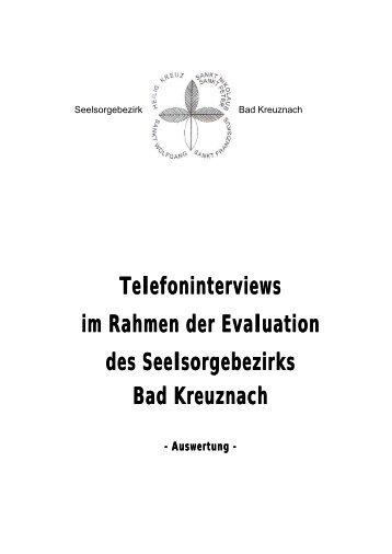 Telefoninterviews im Rahmen der Evaluation des Seelsorgebezirks ...