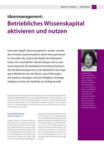Betriebliches Wissenskapital aktivieren und ... - Dr. Wolfgang Huge
