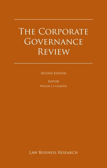 Law Business Research. The Corporate Governance Review 2012 ...