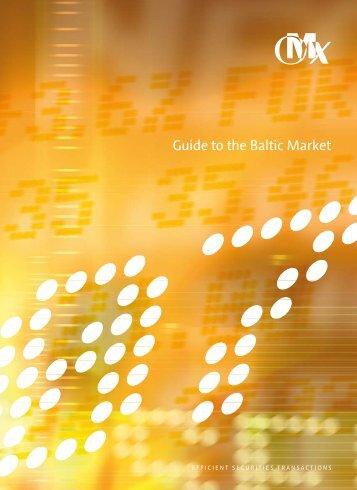 Guide to the Baltic Market - Raidla Lejins & Norcous