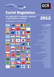 Getting the Deal Through. Cartel Regulation 2012. Latvia chapter