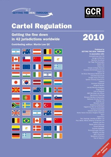 Getting the Deal Through. Cartel Regulation 2010. Latvia Chapter