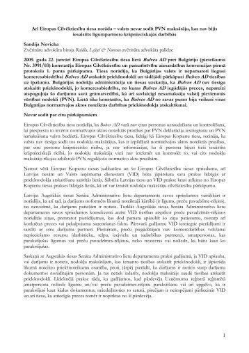 Nevar sodīt par cita pārkāpumiem - Raidla Lejins & Norcous