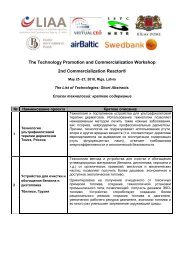 The Technology Promotion and Commercialization Workshop ... - VBII