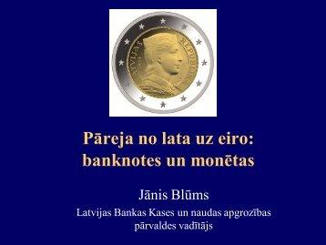 Jānis Blūms, Latvijas Banka - BIG event