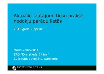 Māris Vainovskis, ZAB Eversheds Bitāns - BIG event