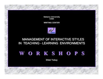 What are WORKSHOPS