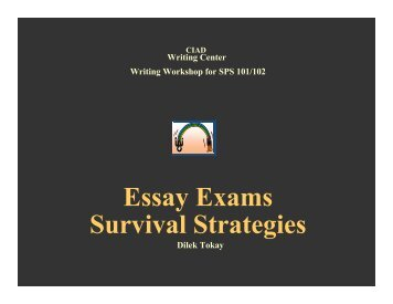 Essay Exams Survival Strategies - CENTER FOR INDIVIDUAL and ...