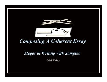 Composing a Coherent Essay - CENTER FOR INDIVIDUAL and ...