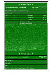 22. TSV Bertholdshofen - TSV Friesenried 1