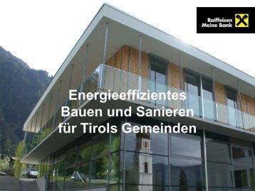 Energieeffizientes Bauen und Sanieren Raiffeisen ... - FLGT