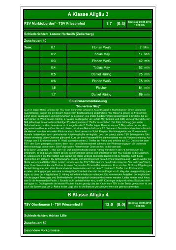 07. FSV Marktoberdorf - TSV Friesenried 1