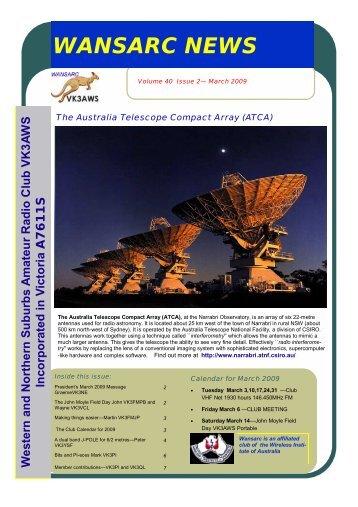 WANSARC March 2009 Volume 40 Number 2.pdf - Western ...