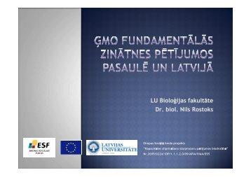Nils Rostoks - Kapacitātes stiprināšana starpnozaru pētījumos ...