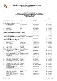 Ergebnisliste Bronze - Silber und Einer - FF Sallingberg