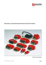 Monobloc and Sectional Directional Control ... - Oudshoorn Hydraulics
