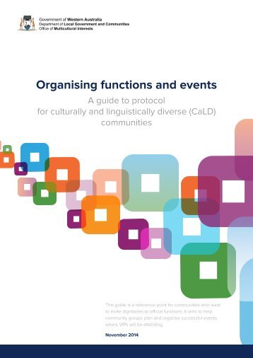 Organising functions and events - A guide to protocol - Office of ...