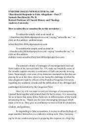 Bacchiocchi Responds to False Allegations - Part 2 - A New You ...