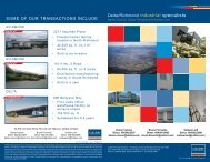some oF ouR TRANsACTIoNs INCLuDe - Colliers International