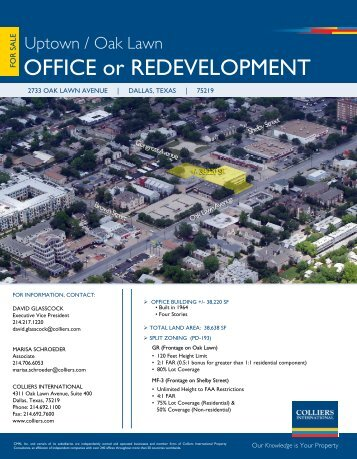 OFFICE or REDEVELOPMENT