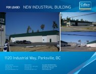 FOR LEASE> NEW INDUSTRIAL BUILDING 1120 Industrial Way ...