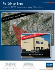For Sale or Lease - Colliers International