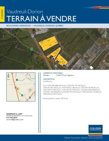 tERRAIN À VENDRE - Colliers International
