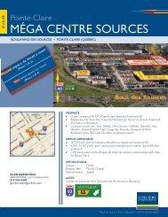 MÉGA CENTRE SOURCES - Colliers International