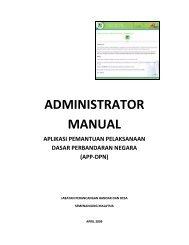 MANUAL PENTADBIR (pdf) - aplikasi pemantauan pelaksanaan dpn