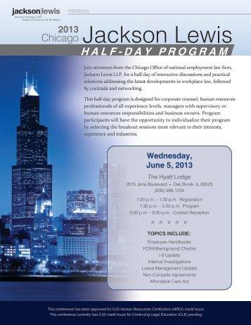 Chicago Half-Day Program Brochure 2013.pdf - Jackson Lewis