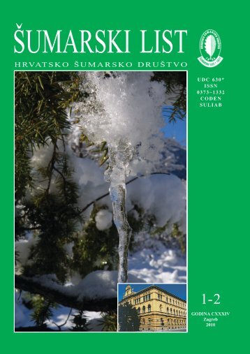 Korološke i fitocenološke značajke vrste Quercus ... - Šumarski list