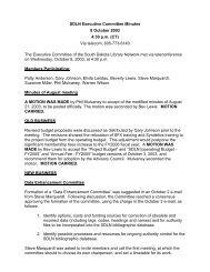 SDLN Executive Committee Agenda - South Dakota Library Network