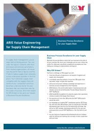 ARIS Value Engineering for Supply Chain Management