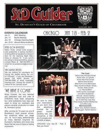 Jan 2013 - St. Dunstan's Theatre
