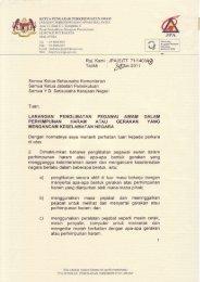 Surat Edaran Larangan Penglibatan Pegawai Awam Dalam ...