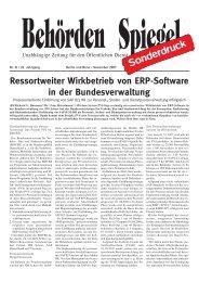 Ressortweiter Wirkbetrieb von ERP-Software in der ... - IDS Scheer AG