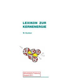 Kernenergielexikon von Kernenergie.de - auf wellenberg.org