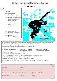 Kinder- und Jugendtag Schloss Roggwil 29. Juni 2013