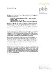 pbb Deutsche Pfandbriefbank: Quartalsgewinn und Erfolg