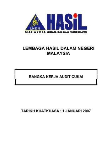 Rangka Kerja Audit Cukai - Lembaga Hasil Dalam Negeri