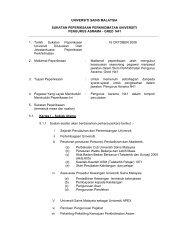 Pengurus Asrama N41 - Jabatan Pendaftar - Universiti Sains Malaysia