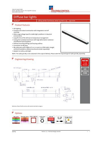 Datasheet - vicolux® LDL14 series 14 mm x 25 ... - Vision & Control