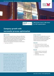 Company growth with successful process ... - IDS Scheer AG